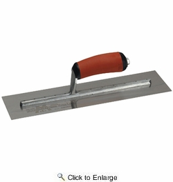 "Marshalltown MXS62D  12"" x 4"" Xtralite Finishing Trowel with Curved DuraSoft Handle (13209)"