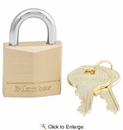 "Master Lock 130D  1-3/16"" Wide Solid Brass Body Padlock with 5/8"" Shacle Height"