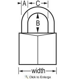 """Master Lock 150D  2"""" Wide Solid Brass Body Padlock with 1"""" Shacle Height"""