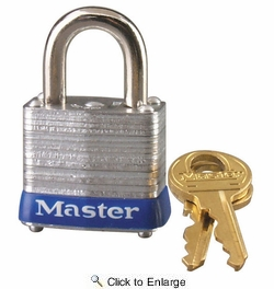 """Master Lock 7D  1-1/8"""" Wide Laminated Padlock with 9/16"""" Shackle Height"""