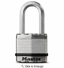 "Master Lock M1XDLFHC  Magnum 1-3/4"" Wide Laminated Padlock with Tough-Cut Octagonal Shackle 1-1/2"" Height"