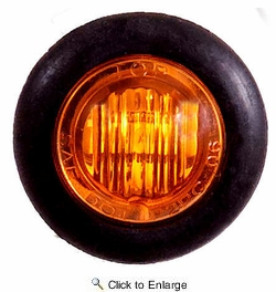 "Maxxima M09300Y  3/4"" Mini P2PC 3 LED Combination Clearance Marker - Amber"