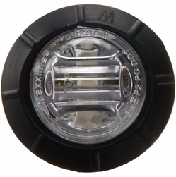 """Maxxima M09300YCL  3/4"""" Mini P2PC 3 LED Combination Clearance Marker - Amber with Clear Lens"""