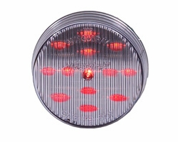 """Maxxima M11300RCL  2-1/2"""" Round Clear Lens Red Clearance/Marker Light  13 LED's"""