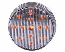 "Maxxima M11300YCL  2-1/2"" Round Clear Lens Amber Clearance/Marker Light  13 LED's"