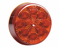 """Maxxima M16280R  2-1/2"""" Round Red Clearance/Marker Light  8 LED's New Circular Pattern"""