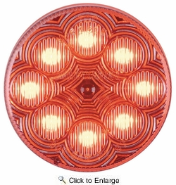 """Maxxima M16280RCL  2-1/2"""" Round Clear Lens Red Clearance/Marker Light  8 LED's New Circular Pattern"""