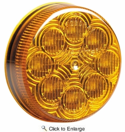 """Maxxima M16280Y  2-1/2"""" Round Amber Clearance/Marker Light  8 LED's New Circular Pattern"""
