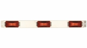 Maxxima M20323R  Stainless Steel ID Bar 3 Red Clearance Marker Lights