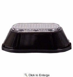 Maxxima M20372RCL  3 LED Surface Mount Warning Strobe - Red with Clear Lens