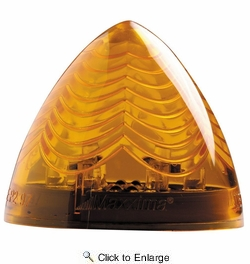 """Maxxima M30600Y  2"""" Beehive Amber Clearance Marker Light - Vantage Series 6 LED's"""
