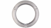 """Maxxima M43253  4"""" Round Stainless Steel 3 Hole Security Flange"""