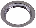 """Maxxima M43253CH  4"""" Round Stainless Steel Security 3 Hole Flange - Chrome Finish"""