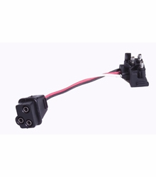 """Maxxima M50901  3-pin Male/Female 6"""" Electrical Connector Extension Harness"""