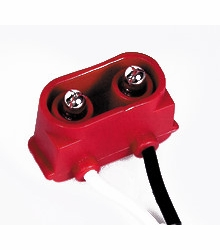 """Maxxima M50950  2-pin Right Angle Electrical Connector Plug for Clearance/Marker Lights 6"""" Leads"""