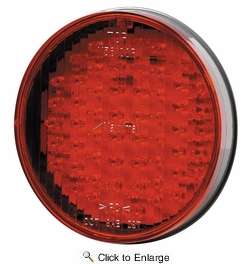 """Maxxima M56100R  4"""" Round Red Stop/Tail/Turn Light 56 LED's"""