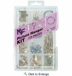 Midwest Fastener 14992  175 Piece Assorted Picture Hanger Kit