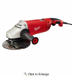 """Milwaukee 6088-30  7"""" - 9"""" Large 15 Amp Angle Grinder with Lock On Switch"""