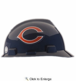 MSA Safety Works 818420  Chicago Bears - NFL V-Gard Protective Cap Hard Hat