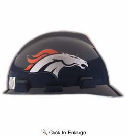 MSA Safety Works 818424  Denver Broncos - NFL V-Gard Protective Cap Hard Hat