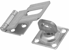 """National  N102-855  Swivel Staple Safety Hasp 3-1/4"""" - Zinc Plated (V32)"""