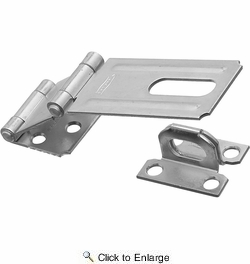"""National  N103-259  Double Hinge Safety Hasp 3-1/4"""" - Zinc Plated (V34)"""