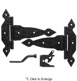"National  N109-013  Spear Décor Gate Kit 8"" - Black (V8412)"
