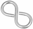 """National  N121-319  #810 Closed S Hooks 1-5/8"""" - Zinc Plated - 4 Per Package (V2072)"""