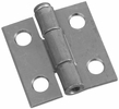 """National  N141-606  Removable 1"""" Pin Hinge - Zinc Plated - 2 Per Package (V508)"""