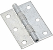 """National  N142-034  Removable 3"""" Pin Hinge - Zinc Plated -2 Per Package (V508)"""