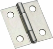 """National  N146-043  Non-Removable 1-1/2"""" Pin Hinge - Zinc Plated - 2 Per Package (V518)"""