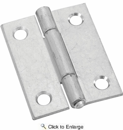 """National  N146-159  Non-Removable 2"""" Pin Hinge - Zinc Plated - 2 Per Package (V518)"""