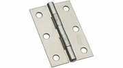 """National  N146-373  Non-Removable 3"""" Pin Hinge - Zinc Plated - 2 Per Package (V518)"""