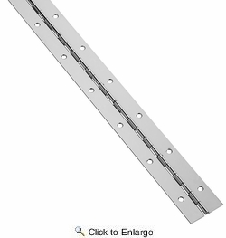 """National  N148-486  Continuous Hinge 1-1/2"""" X 72"""" - Nickel (V570)"""