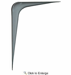 "National N172-619  12"" x 14"" Utility Shelf Bracket - Gray"