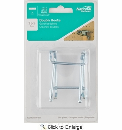 "National  N180-035  Double 2"" Pegboard Hook - 2 Per Package (V2311)"