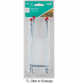 """National  N180-039  Double 6"""" Hook for Pegboard - 2 Per Package (V2361)"""