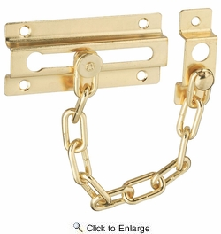 National  N183-590  Door Chain - Brass (V807)