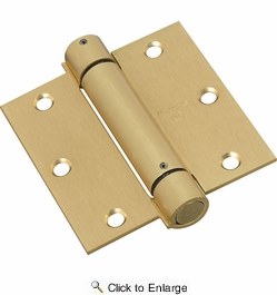 "National  N184-556  Square Corner 3-1/2"" Spring Hinge - Brass (V520)"