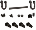 "National  N186-964  Decorative Horseshoe Interior Sliding Door Kit 72"" - Oil Rubbed Bronze (V924)"