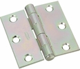 """National  N195-644  Removable Pin 2-1/2"""" Broad Hinge - Zinc Plated -2 Per Package (V504)"""