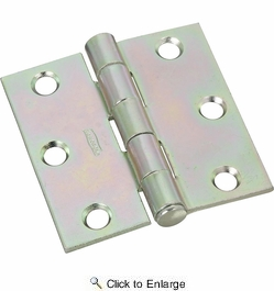 "National  N195-644  Removable Pin 2-1/2"" Broad Hinge - Zinc Plated -2 Per Package (V504)"
