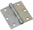"""National  N195-669  Removable Pin 3-1/2"""" Broad Hinge - Zinc Plated - 2 Per Package (V504)"""