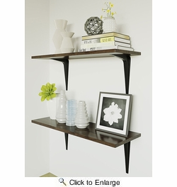 "National  N218-917  Utility 6"" X 8"" Shelf Bracket - Black (211BC)"