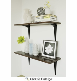 "National  N218-941  Utility 8"" X 10"" Shelf Bracket - Black (211BC)"