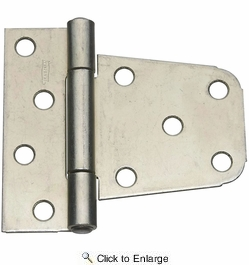 "National  N223-875  Extra Heavy 3-1/2"" Gate Hinge - Zinc Plated (287BC)"