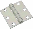 """National  N261-636  Non-Removable Pin 2-1/2"""" Hinge - Zinc Plated - 2 Per Package (V505)"""