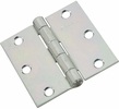 """National  N261-644  Non-Removable Pin 3"""" Hinge - Zinc Plated - 2 Per Package (V505)"""