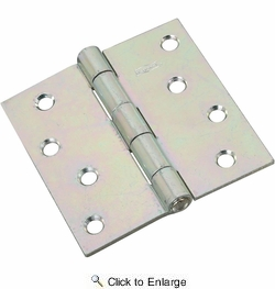 "National  N261-669  Non-Removable Pin 4"" Hinge - Zinc Plated (V505)"