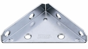 "National  N337-683  Heavy Duty 3"" Corner Brace - Zinc Plated - 2 Per Package (V124)"